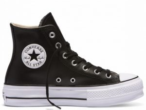CONVERSE 561675 PLATFORM LEATHER BLACK HI