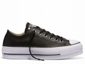 CONVERSE 561681 PLATFORM LEATHER BLACK OX