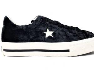 CONVERSE 562741 ONE STAR PLATFORM VELVET BLACK