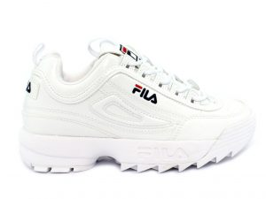 Fila Disruptor P Low White Patent 1010746.1FG