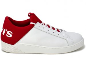 LEVI'S MULLET WHITE-RED