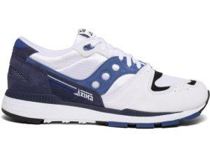 SAUCONY S70493-1 AZURA PREMIUM WHITE NAVY BLUE