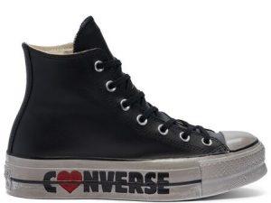 Converse 569117c Ctas Hi Lift Leather Ltd Black Wordmarks