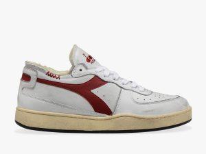 Diadora Heritage 201.176282 C7114 MI Basket Row Cut Bianco Rosso