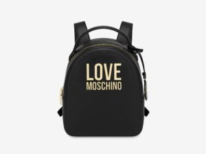 love moschino jc4101pp1clj000a nero zaino gold metal logo