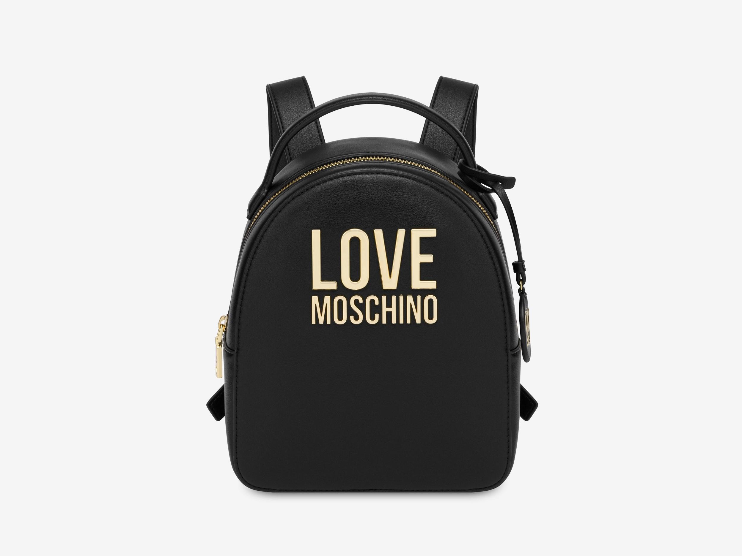 love moschino jc4101pp1clj000a nero zaino gold metal logo
