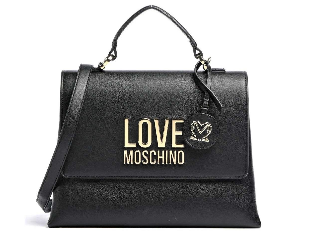 love moschino jc4102pp1clj000a borsa a mano logo gold metal