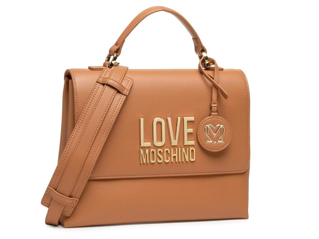 love moschino jc4102pp1clj020a cammello borsa a mano logo gold metal