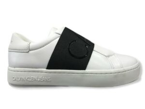 calvin klein yw0yw00160 sneakers slipon elastic bright white