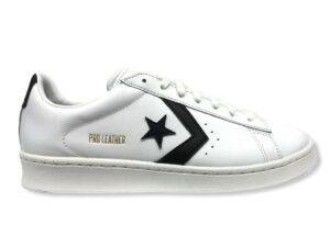 converse 167237c pro leather low top shoe white black