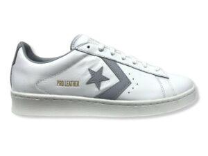 converse 170360c pro leather low top shoe white gravel