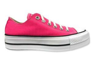 converse 570324c color platform chuck taylor all star low top hyper pink
