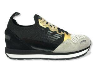 emporio armani sneakers x3x116 xm671 r899 black gold white