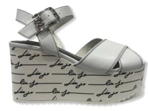 liu jo bella 1 wedge sandal sa1029 ex014 01111 white
