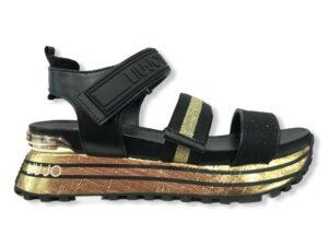 liu jo maxi wonder sandal 7 ba1073 tx116 00529 gold