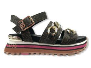 liu jo maxi wonder sandal 9 ba1077 ex057 s1804 brown