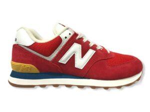 new balance 574 ml574ha2 team red with wave blu
