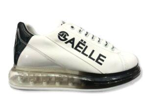 gaelle gbds 2272 sneakers con fondo trasparente nero
