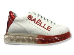gaelle gbds 2272 sneakers con fondo trasparente rosso