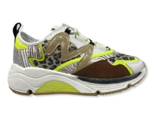 manila grace sneaker s1ds670lmma109 running animal bianco giallo