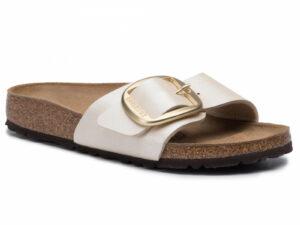 birkenstock madrid 1015279 big buckle pearl white