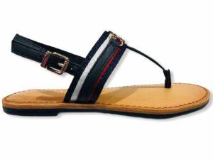tommy hilfiger fw0fw05629 desert sky flat sandal