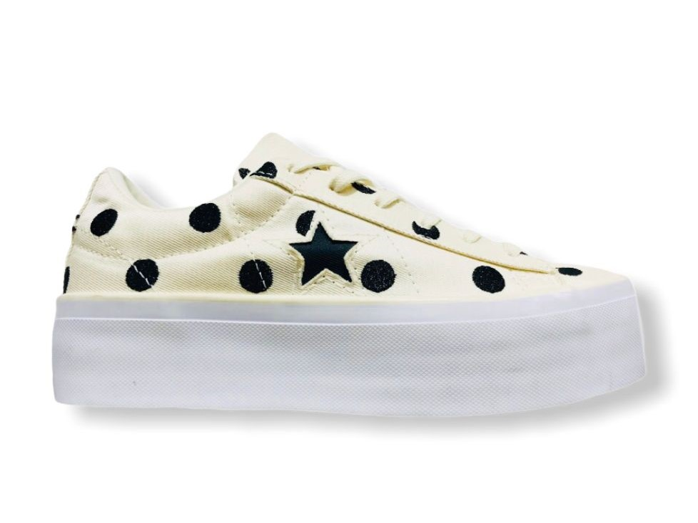 converse all star 560696 ox one star paltform cream pois chuck ...