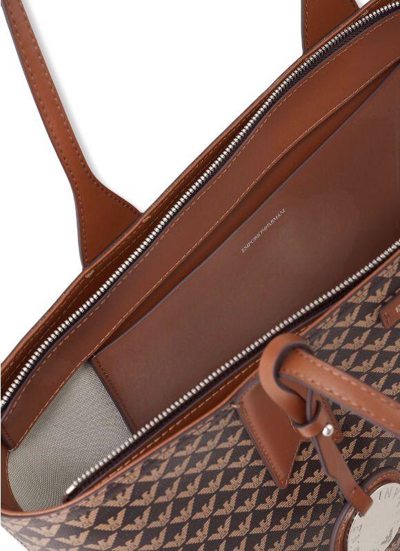 emporio armani y3d099 yfg5e 85172 shopping bag logo brown