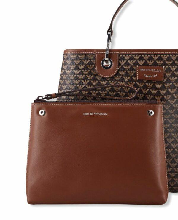emporio armani y3d165 yfg5e 85172 shopping bag logo brown
