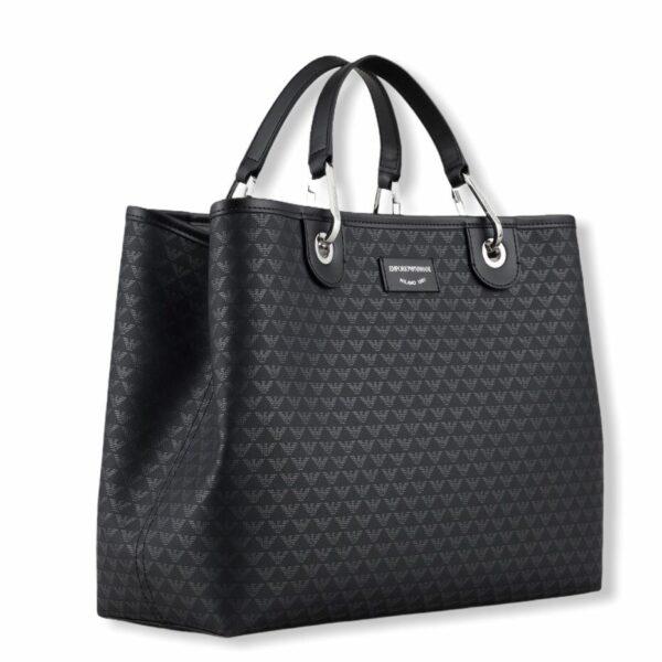 emporio armani y3d165 yfg5e 88291 shopping bag logo nero