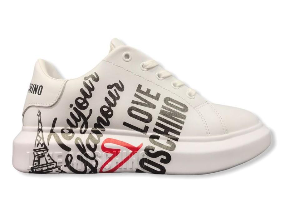 love moschino ja15154 g1diax100 sneakers vit bianco toureiffel