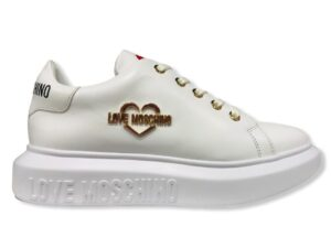 love moschino ja15204 g1dia0100 sneakers vit bianco