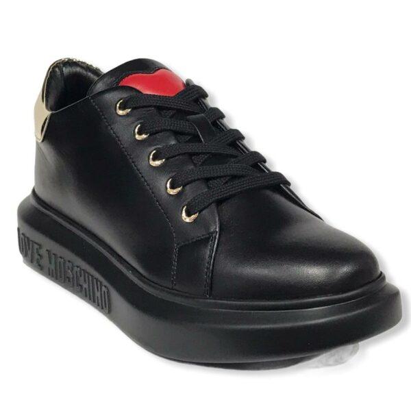 love moschino ja15284 g1dia600a sneakers vit nero