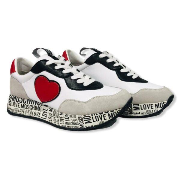 love moschino ja15314 g1die410b sneakers run40 bianco