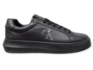 calvin klein ym0ym00290 triple black chunky cupsole laceup sneakers